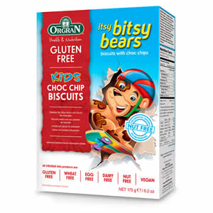 Itsy Bitsy Bear. Galletas de ositos con trozos de chocolate
